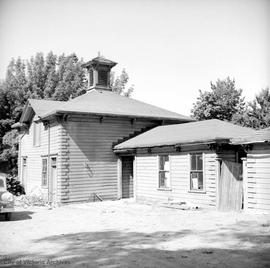 "R.P. Rithet barn at the family home at 952 Humboldt Street known as ""Hollybank"", stable"