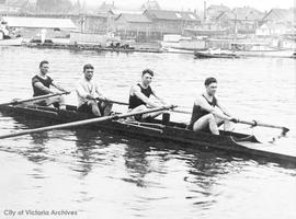 James Bay Athletic Association (J.B.A.A.) rowing team, winners lnter-club regatta, Vancouver
