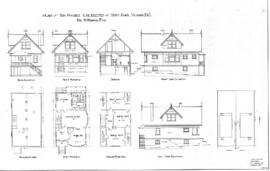 Plan of two houses to be erected on Kings Road