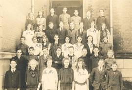 South Park School - 1st Division; Principal Mr. Campbell (Norman Fatt far left in 3rd row)