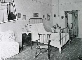 Bedroom at the King Edward Hotel, 641 Yates Street