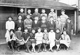 School group from the King Street School, North Ward Annex