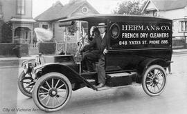 Herman & Co. French Dry Cleaners delivery truck