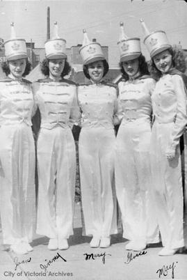 Victoria Girls Drill Team, Joan, Jinny, Doris and May