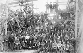 Staff of the Victoria Machinery Depot (V.M.D) during the first World War