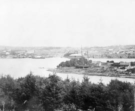 Upper Harbour.  Point Hope Shipyard in mid-ground