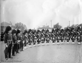 50th Gordon Highlanders. Major Roger Monteith in photo