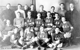 James Bay Athletic Association (J.B.A.A.) rugby team L to R (top) Kennedy, Thomson, Newmarsh, New...
