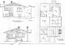 [One-storey bungalow with basement]