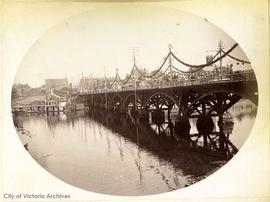 James Bay Bridge decorated for the visit of the Duke and Duchess of Connaught