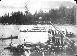 Indian canoe race, Gorge