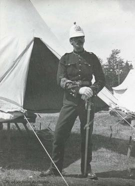 Christopher Hollyer in military uniform. Hollyer served with the 5th Canadian Garrison Army from ...