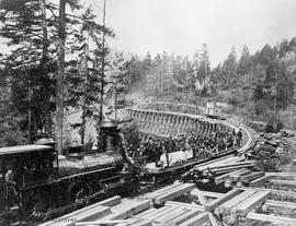 First excursion on the Esquimalt & Nanaimo Railway (E&N) train carrying dignitaries