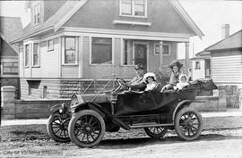 Unidentified family in their car
