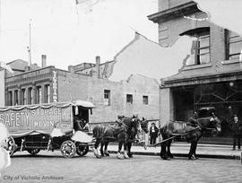 Horse drawn Safety Storage and moving van, 500 block Fort Street