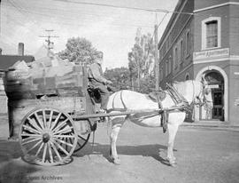 Wood cart on Humboldt Street