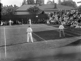 Victoria Lawn Tennis Club on Belcher Avenue (now Rockland) at Cook Street, Lawn tennis match