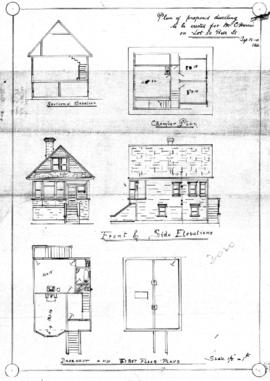 Plan of proposed dwelling to be erected for Mr. C. Harris on Lot 20, Beta St