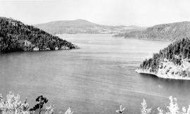 Saanich inlet from the Malahat Chalet