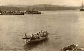 HMS Virago and Sparrowhawk in Esquimalt Harbour. These ships were stationed at Esquimalt from 189...