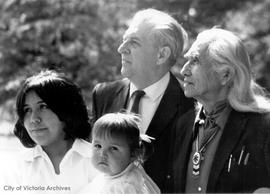 First Nations at Institute of Adult Studies : Jack Kempster, Chief Dan George, Belinda Claxton an...
