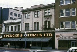 Spencer's Store and Douglas Hotel before renovations