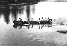 Canoe races at Gorge