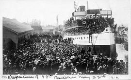 "Departure of the 88th Battalion aboard the ""Princess Charlotte"""