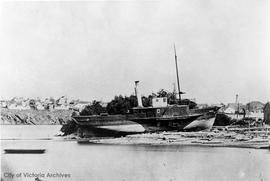 "Hudson's Bay Company (HBC) ship S.S. ""Beaver"". Beached for repairs at Point Hope"