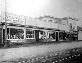 Shops on the south side of Esquimalt Road near Admirals Road