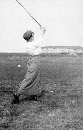 "G. ""Tinker"" Jones playing golf"