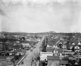 Quadra Street from St. John's Church, looking north