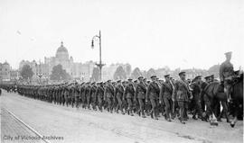 Parade of the 48th Battalion on Government Street