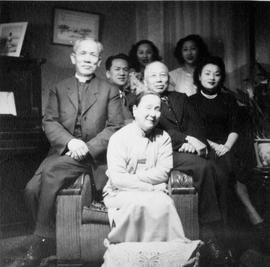 Lim family. L to R: (back) Violet (Diin) Lim, Gore Lim (centre) Rose Lim, Lim Bang, Fay (son),?, ...