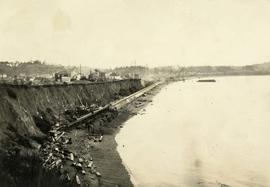 Construction of the Ross Bay seawall