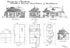 Design for a residence to be built on Harrison Street, Victoria, for Mrs. A. Edwards