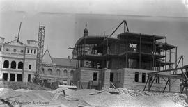 Legislative Library under construction