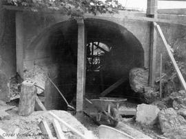 Bowker Creek culvert under Hillside Avenue