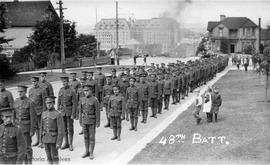 48th Battalion on Burdett Avenue