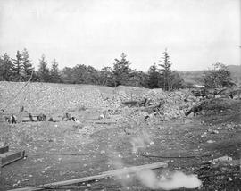 Construction of the Smith Hill Reservoir, Oct 23, 1908