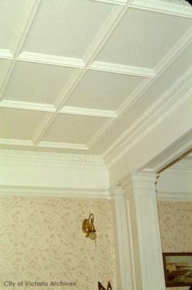 "Lyman Duff family home at 1745 Rockland Avenue known as ""Ashton"", ceiling"