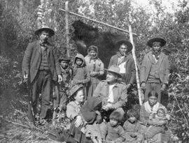Agnes Deans Cameron with Se-weep-i-gon family on the Peace River