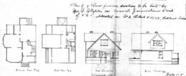 Plan of 7 room frame dwelling to be built by Mrs. I. Staples on concrete foundations ... situated on Lot 8, Block 5-56/7/2, Oaklands Section