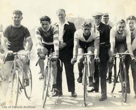 Penwell bicycle race, Beacon Hill Park