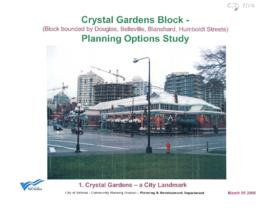 Crystal Gardens block : planning options study