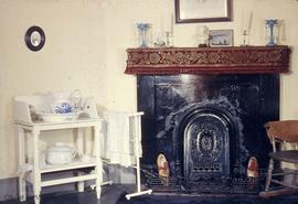 Dr. John Sebastian Helmcken family home at 638 Elliot Street, fireplace