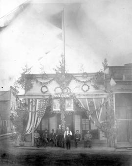California Saloon decorated for the visit of Lord and Lady Minto