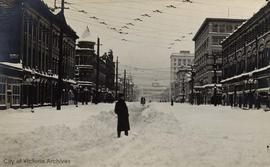 Douglas Street during the 'Great Snow'