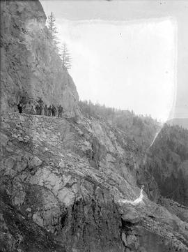 Esquimalt & Nanaimo Railway (E&N) survey crew on the Malahat