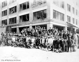 """When we built the Pemberton Block, Victoria, British Columbia"""